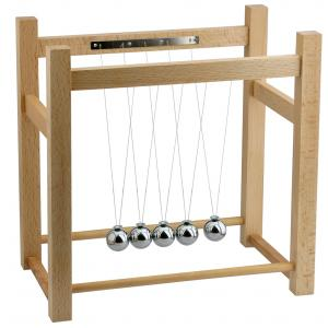 Arco Newtonian Demonstrator or Collision Balls on Wooden Frame