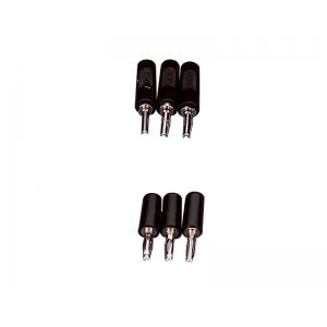 Arco Banana Plugs, Black