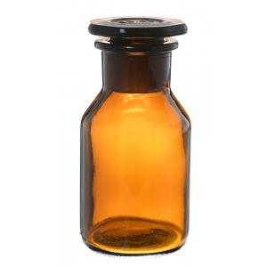 Arco Bottle, Reagent, Wide Neck, Glass Stopper, Amber Color, Capacity-125 ml