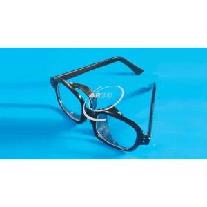 Arco Safety Goggles, Clear Plastic, Black Frame